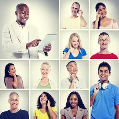 Multi Ethnic People Community Communication Concept