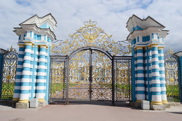 Gate of Catherine Palace in Tsarskoe Selo.