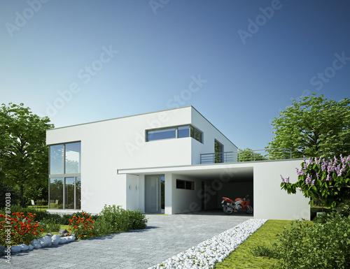 haus kubus 3 mit carport tag stockfotos und lizenzfreie bilder auf bild 77870038. Black Bedroom Furniture Sets. Home Design Ideas
