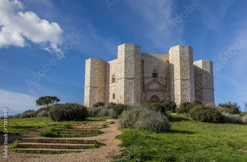 Steps leading to the Castel Del Monte - 77870448