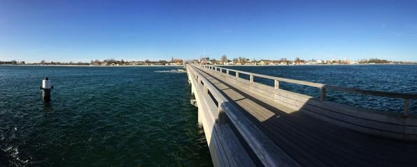 Blick auf die Küste von der Seebrücke aus