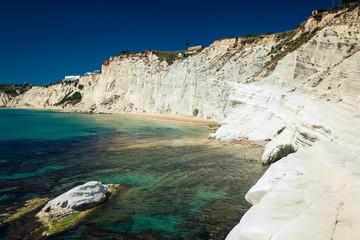 white cliffs of smooth pug at Scala dei Turchi