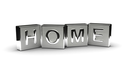 Metal Home Text