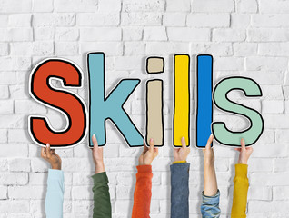 Skills Word Development Improvement Concept