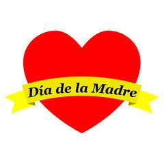 Corazon con cinta Dia de la Madre