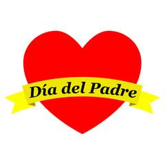 Corazon con cinta Dia del Padre