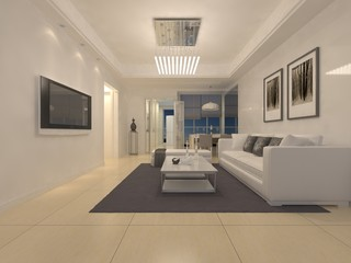 3D luxury house interior design