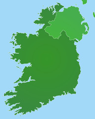 Irland in Grün