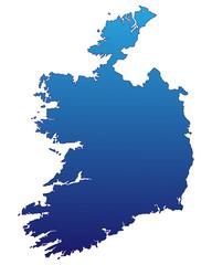 Irland in Blau