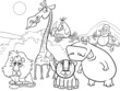 wild animals group coloring page - 77874219