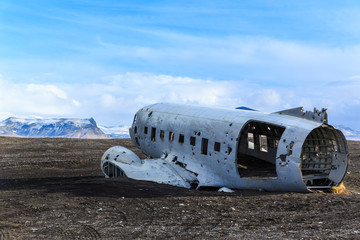 Wreck airplane in Iceland