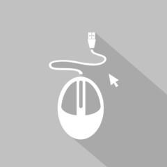 Icono mouse gris sombra