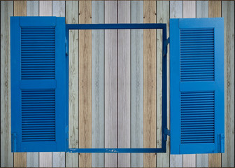 old wooden wall background with window
