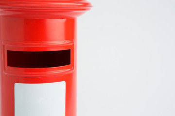 Studio Shot Of Red Post Box
