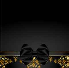 Premium background with bow