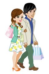 Shopping Couple,Spring clothes