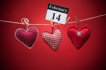 February 14, Valentine's day, red heart