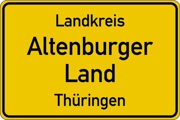 Altenburger Land in Thüringen