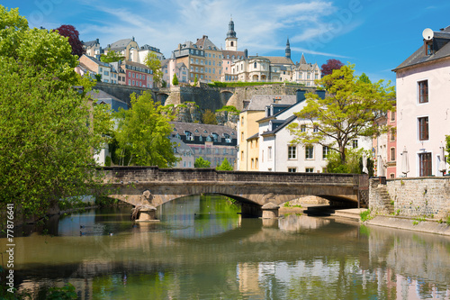 Luxembourg city at a summer day
