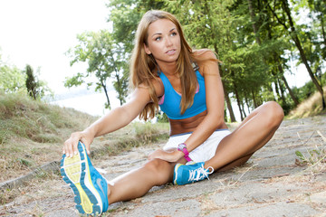 fit woman outdoor smiling