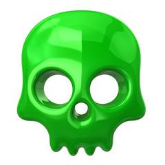 Green dead man skull