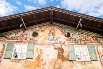 Garmisch Partenkirchen, Haus mit Lüftlmalerei