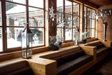 modern wooden interior at Alpine ski resort