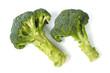 Two broccoli on white