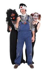 verschiedene Monster zu Halloween