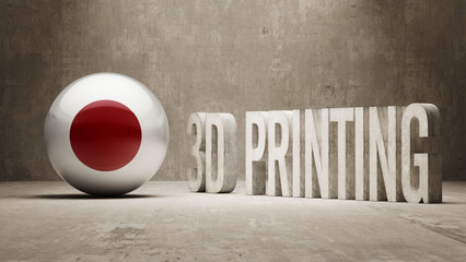 Japan.  3d Printing Concept