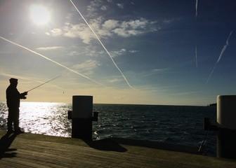 Angler an der Ostsee
