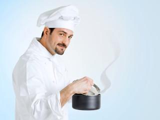 Chef preparing delicious food
