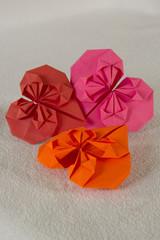 Оригами - три сердца из бумаги - 2