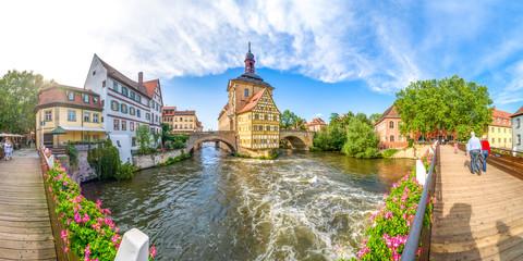 Bamberg Panorama Brückenrathaus