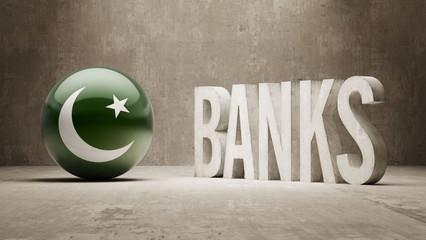 Pakistan. Banks  Concept