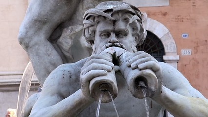 Triton of the Moor Fountain. Piazza Navona, Rome