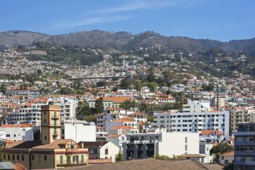 Funchal; Blick auf die Stadt