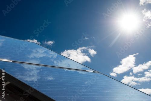 Solar panels producing energy - 77883814