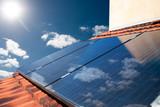 Solar panels producing energy - 77884078