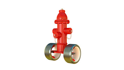 fire hydrant on wheels