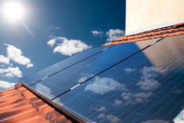 Solar panels producing energy