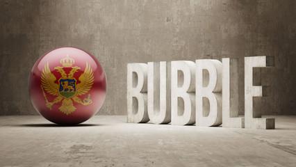 Montenegro. Bubble  Concept.