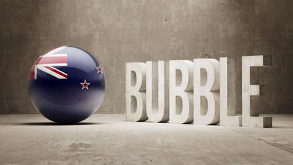 New Zealand. Bubble  Concept.