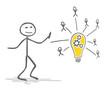 Strichmännchen Lampe Idee