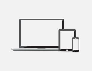 vector illustration of modern gadgets