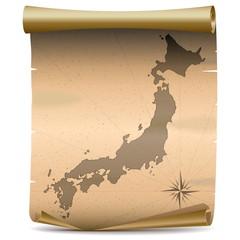 Vector Japan Vintage Map