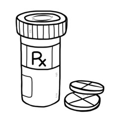 medicine pill and bottle