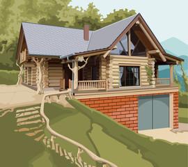 house log modern