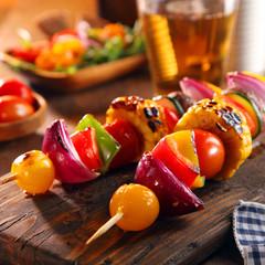 Roasted vegan vegetable skewers