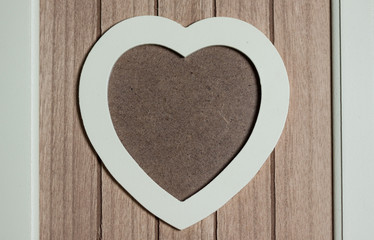 photo frame isolated on brown background